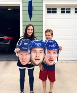 Seeing triple. Triplet heads sign. #BecauseItsTheCup